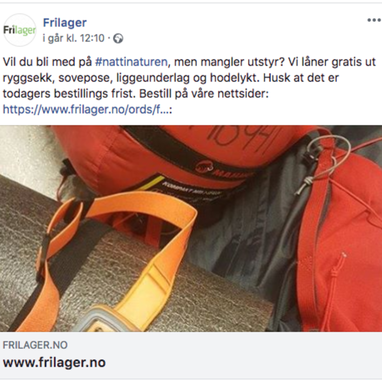 Frilager & utstyrspool